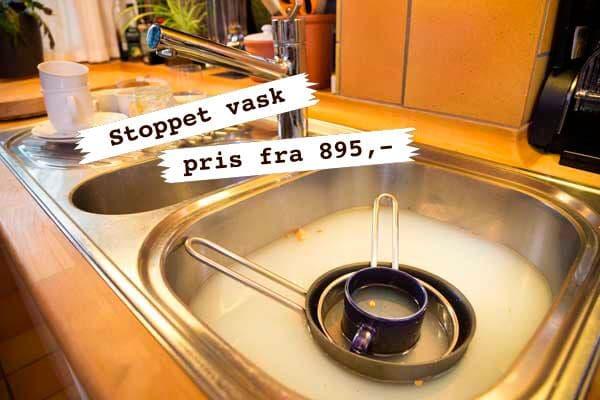 stoppet vask pris få det ordnet