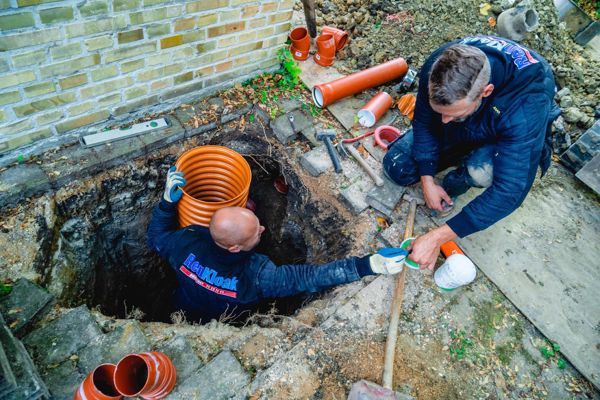 Arbejde og gravning til omfangsdræn - professionelt kloakarbejde