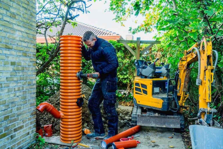 Nedgravning og udførelse af omfangsdræn